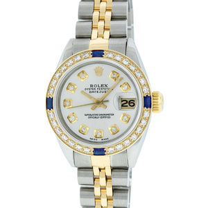 Rolex Datejust Ladies Silver Diamond Watch